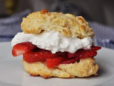 How do you make the world's fastest strawberry shortcakes without sacrificing flavor or quality? Super-easy cream biscuits are the key to this summer dessert that comes together in 25 minutes or less.