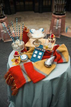 Doctor Who wedding via Rock n Roll Bride photos by Ka Forsyth.