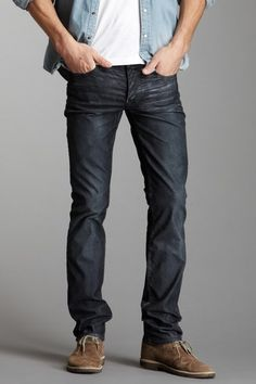 Mens Slim 12.75oz Raw Denim Jeans In 24 Dip Indigo Timber | DSTLD ...