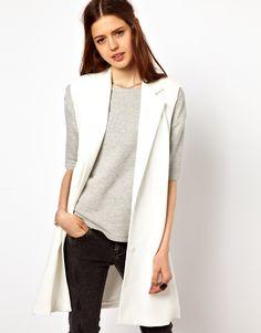 Image 1 of Just Female Sleeveless Blazer
