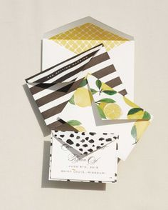 Save-the-dates by St. Louis's Cheree Berry Paper came in a series of graduated envelopes.