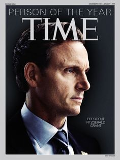 Fitzgerald Grant on the cover of Time Magazine's Person of the Year.   It's a 'Scandal' thing...