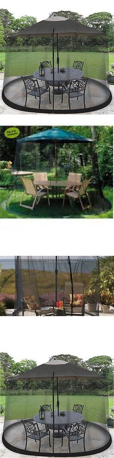Insect Nets And Repellents 65965: Outdoor Mosquito Net Patio Umbrella Bug  Screen Gazebo Canopy Insect Fly Netting BUY IT NOW ONLY: $34.42