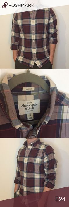 Abercrombie & Fitch Flannel Abercrombie & Fitch button down flannel. Think material. Great for a vintage look. In great condition. Abercrombie & Fitch Shirts Casual Button Down Shirts