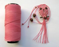 Pink Macrame Owl Necklace -Tutorial linked
