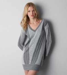 AEO V-Neck Jegging Sweater
