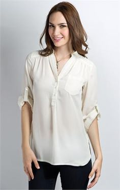 Wish You Well Blouse - Egret  recently acquired this blouse - it's awesome.  Can be dressy with a skirt or slacks or can be casual with leggings or jeans!
