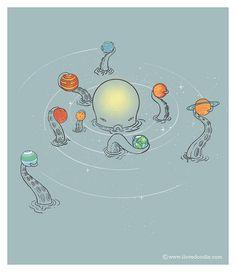 Solar System by ILoveDoodle, via Flickr