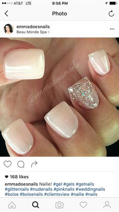 Jun 2018 - Pretty idea for short manicured nails! Fancy Nails, Love Nails, Pink Nails, How To Do Nails, Pretty Nails, Dipped Nails, Hair Skin Nails, Colorful Nail Designs, Fabulous Nails