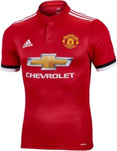 adidas Manchester United Authentic Home Jersey - Soccer Master Manchester United Gear, Basketball Jersey, Basketball Hoop, Man Utd Fc, Soccer Gear, Soccer Jerseys, Old Trafford