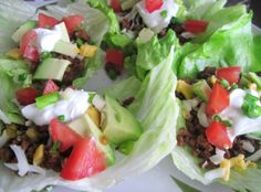 Low Carb Mexican Lettuce Wraps #healthyrecipes