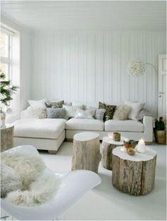 arredare casa con il legno tronchi grandi