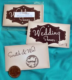 Vintage inspired #ScratchOff game cards by MyScratchOffLabels.com #Wedding #Bridal