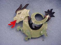 Lea Stein Paris Chinese Dragon Pin | eBay