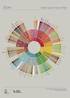 Baristas and coffee enthusiasts often use these words—and many more—to describe the flavor nuances of different coffees. The flavor wheel below from the Specialty Coffee Associat Coffee Tasting, Coffee Drinks, Coffee Cups, Iced Coffee, Coffee Zone, Different Coffees, Coffee Industry, Retro Cafe, Coffee Facts