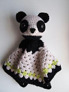 Panda bear security blanket