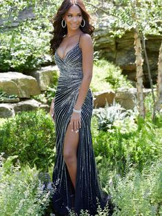 Mori Lee - 43001 Crystal Beaded Deep V-neck Trumpet Dress – Couture Candy Straps Prom Dresses, Prom Party Dresses, Designer Prom Dresses, Prom Dresses Online, Mori Lee Dresses, Trumpet Dress, Sophisticated Dress, Perfect Prom Dress, Two Piece Dress