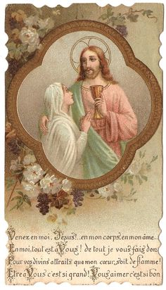 Jesus with Young Girl Communion Chalice Antique by 12StarsVintage