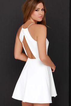 Cameo Nightswim Dress - Elegant Ivory Dress - White Dress - $169.00