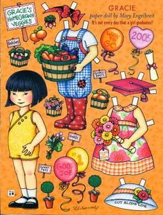 Uncut Paper Doll Graduation Party by Mary Engelbreit