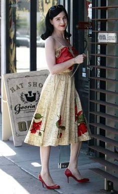 Dita Von Teese in vintage 50's sundress