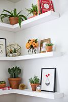 DIY Floating Corner Shelves - A Beautiful Mess