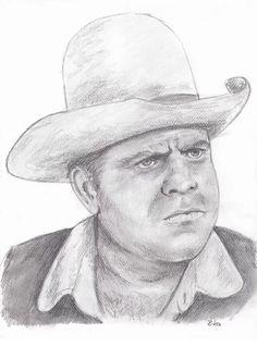 Rika's pencil drawing of Hoss Cartwright