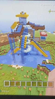 Amazing minecraft water park easy to build. Looks amazing