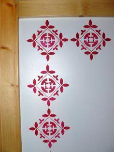 1000 id es sur le th me salle de bains pochoir sur for Pochoir a peindre sur mur