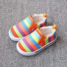 2016 Autumn Rainbow color style Kids casual shoes canvas shoes outdoor wear fashion sneakers for boys girls //Price: €14.9 & FREE Shipping //   #fashion #baby #clothes #trendy #2017