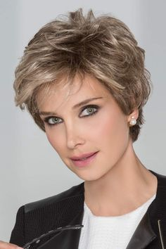 Petite/Average Impulse by Ellen Wille Wigs - Hand Tied, Lace Front, Monofilament Top Wig Short Haircut Styles, Girls Short Haircuts, Short Layered Haircuts, Short Hairstyles For Women, Cool Hairstyles, Pixie Hairstyles, Pixie Haircuts, Scene Hairstyles, Beach Hairstyles