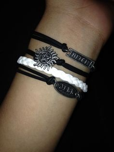 Supernatural bracelets from hot topic!! I can already hear people asking me if I worship satan..