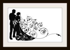 cross stitch wedding COUPLE SILHOUETTE - Google Search
