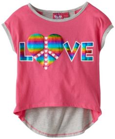 Derek Heart Girl Girls 7-16 High-Low Colorblock Top with Screen Print - List price: $24.99 Price: $18.99 Saving: $6.00 (24%)