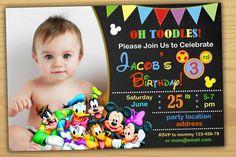 Mickey Mouse Birthday Invitation By SuperBirthdayParty