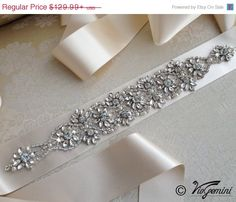 10% OFF Bridal sash Bridal Belt Wedding Sash Crystal Sash Jeweled Belt  Satin Ribbon Sash a3730dc9cfe