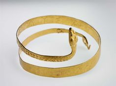 Bracelet in the form of a coiled snake; Greek; 3rd c BC; Gold; Accession number 64.2172