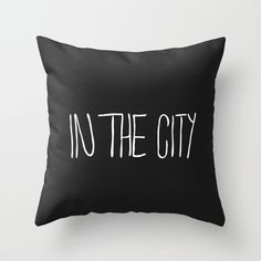 In The City Throw Pillow by julieart