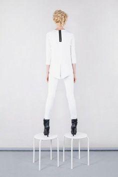 Bluza - frak basic biały
