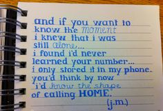 Never read lyrics more true.. Tracing - John Mayer