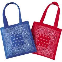 bandana tote bags $0.59 each