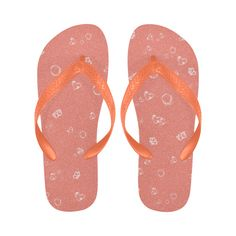 Sweetie Peach Flip Flops #stellasaksa #sweetie #peach #flipflops #spring #customdesign