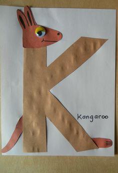 * K van kangeroe