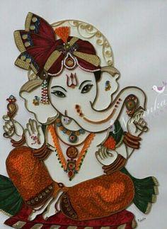 Quilling Sri ganesh.....