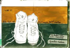 The day we walked rather than rode - See more of my cycling diary pages at www.artistonabike...
