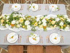 Pale Blue & Citrus Wedding on a Vineyard