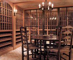 Example of wine bottle storage.