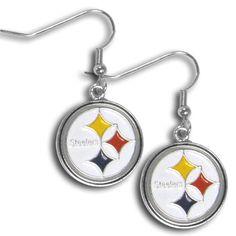 f6613c0ecff Pittsburgh Steelers Chrome Dangle Earrings FDE160N Steelers Football