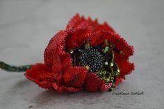 #бисероплетение #бисерныйдизайн #бисер #украшениеизбисера #живописьбисером #rohloffswetlana #swetlanarohloff #rohloff_beads #бисеромания Diy Kits, Botany, Blackberry, Creative, Etsy, Fruit, Flowers, Poppy, Beading