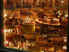 bakery window at Christmas in Strasbourg, France